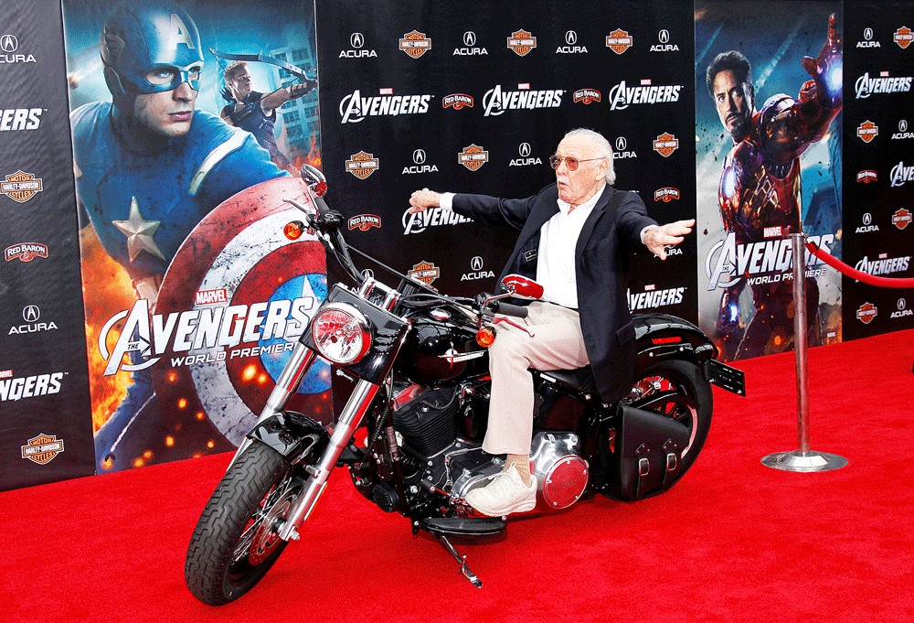 Superhero creator Stan Lee honored in Hollywood - People