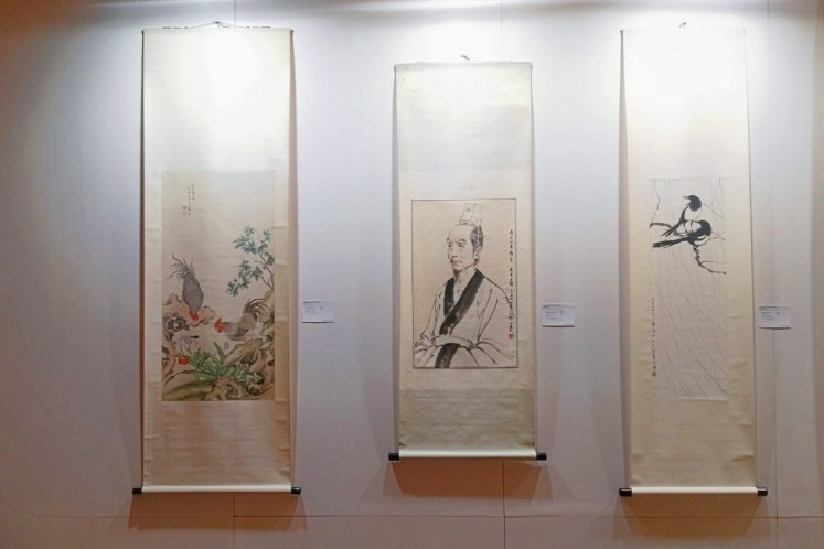 Chinese paintings showcased at the Jakarta preview of Christie's autumn auctions