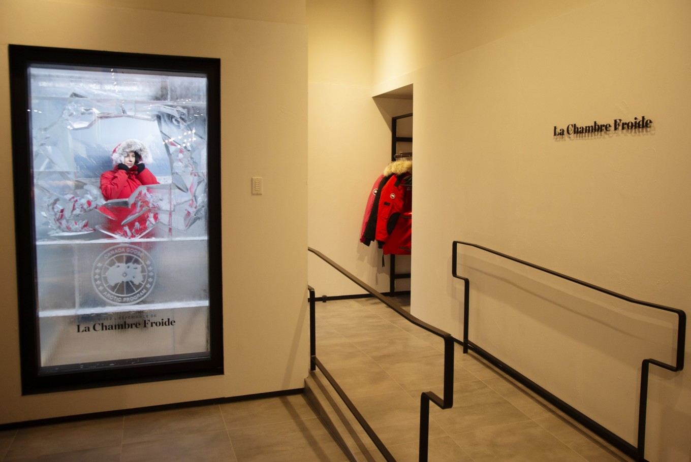 Canada Goose is turning the dressing room into a freezer