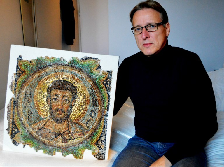 Looted St Mark mosaic returns home to Cyprus