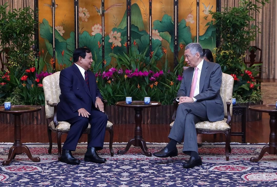 Prabowo meets with Singapore's PM Lee
