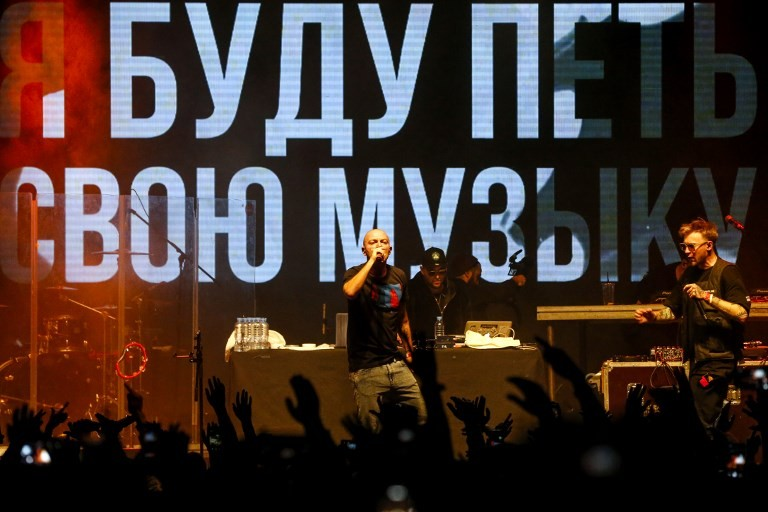 Top Russian rappers unite for protest gig over star's