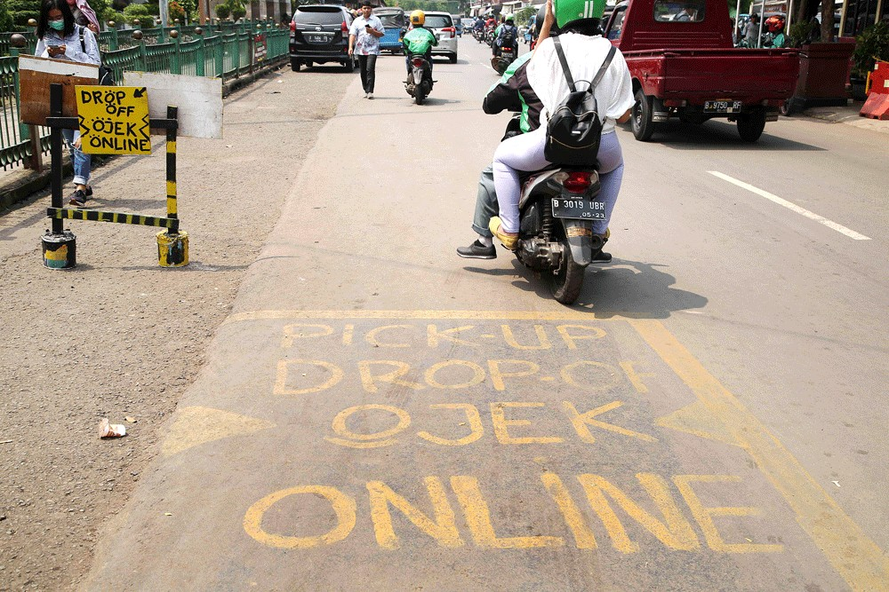 Base fare for app-based 'ojek' decided at Rp 10,000
