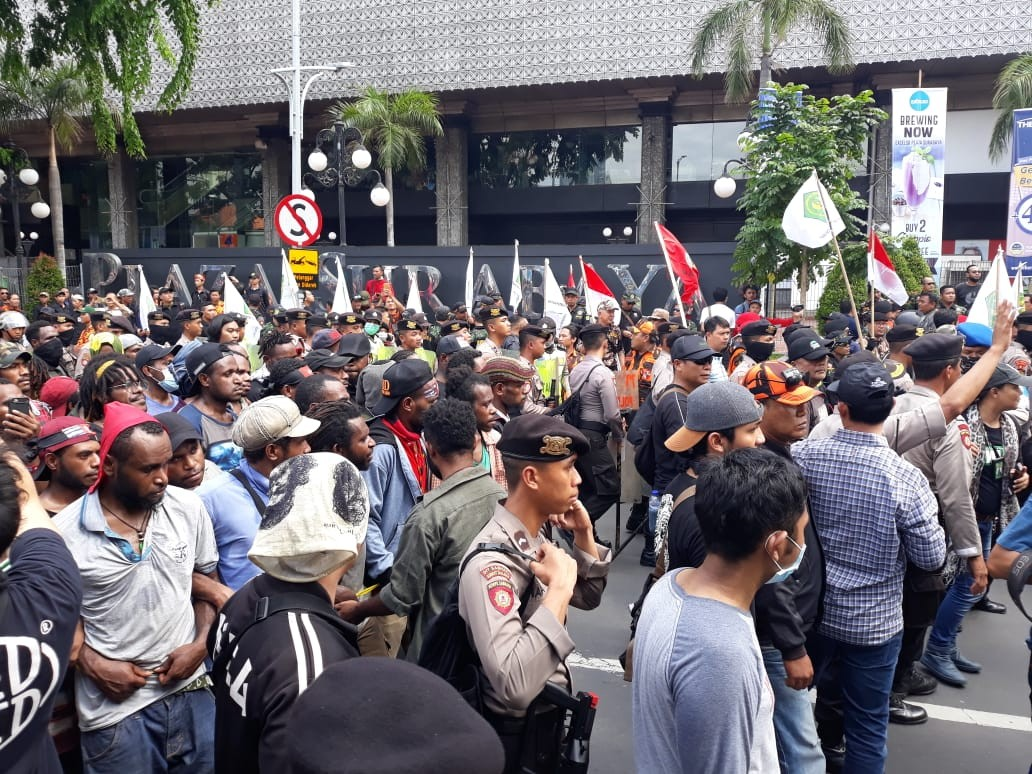 Papuan students stage protest for Papua's independence