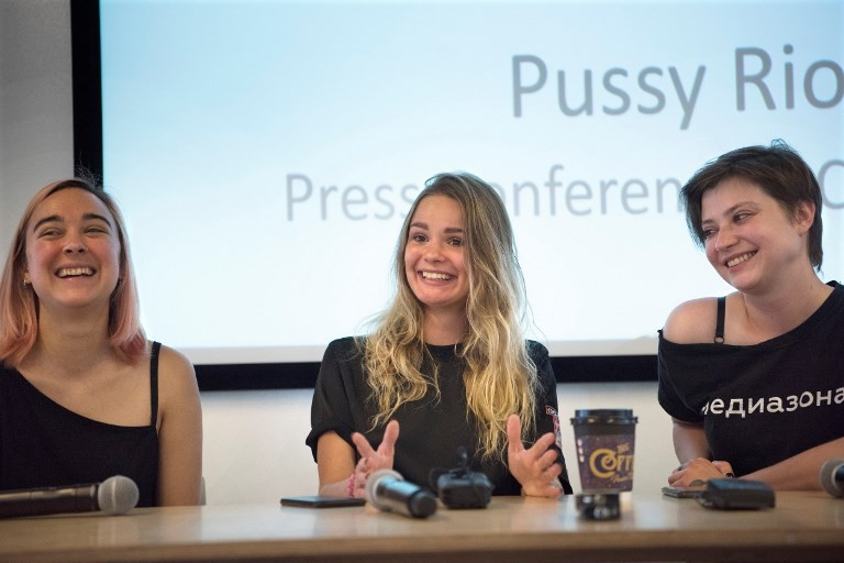 Pussy Riot activists plot South Africa art project