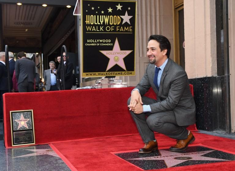 'Hamilton' creator Lin-Manuel Miranda raps way to Hollywood star