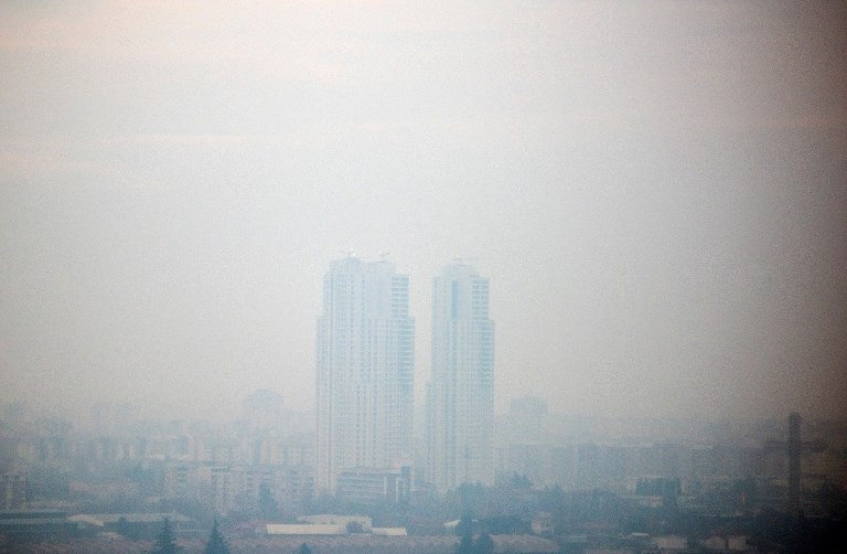 In the Balkans, winter cheer is darkened by a toxic smog