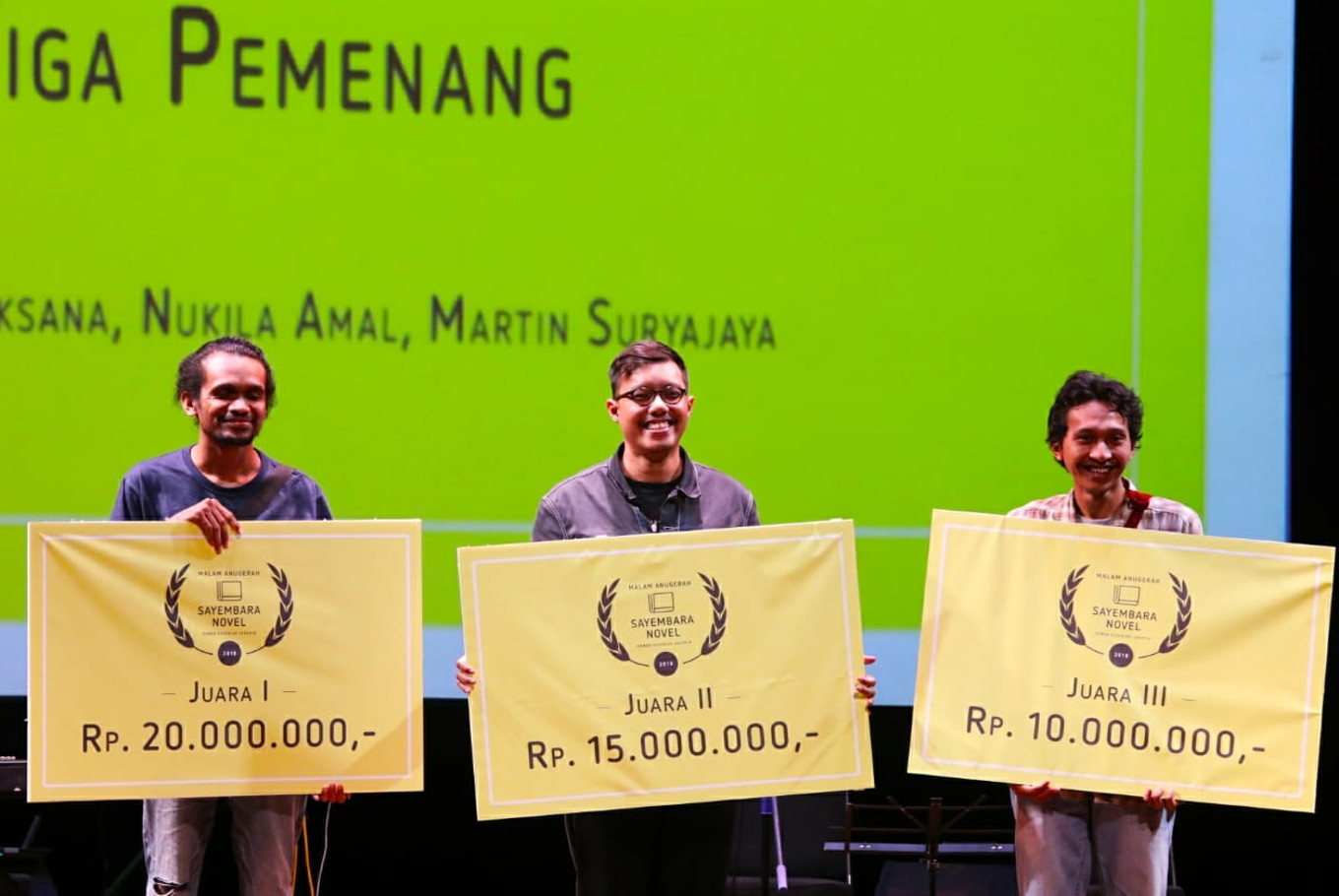 Jakarta Arts Council names winners of novel-writing contest
