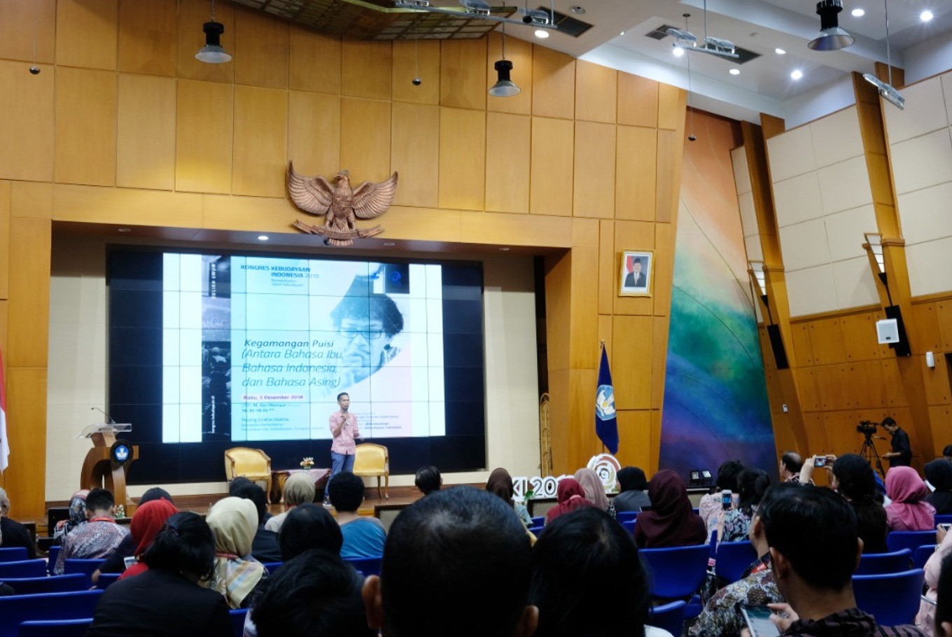 Poet Aan Mansyur highlights the power of language at Cultural Congress