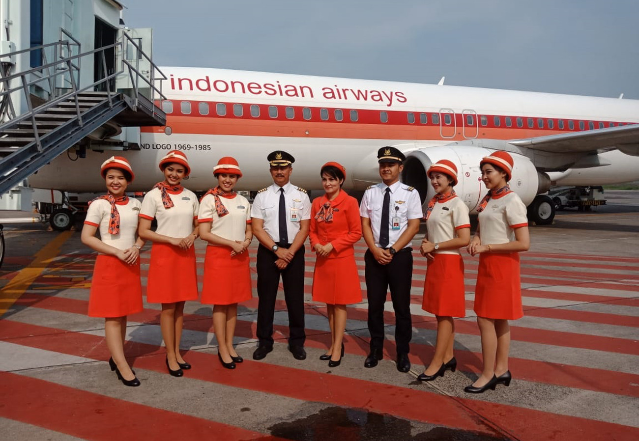 Garuda Indonesia takes passengers on trip to 1980s