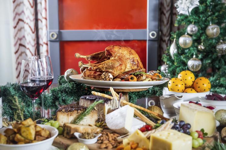 Roasted turkey for brunch at Alto restaurant, Four Seasons hotel Jakarta