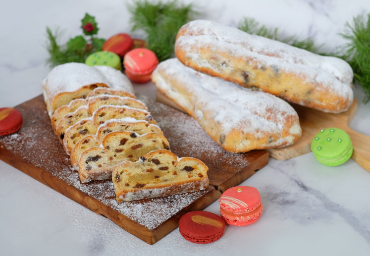Panettone and macaron for a Christmas feast at Shangri-La Hotel Jakarta