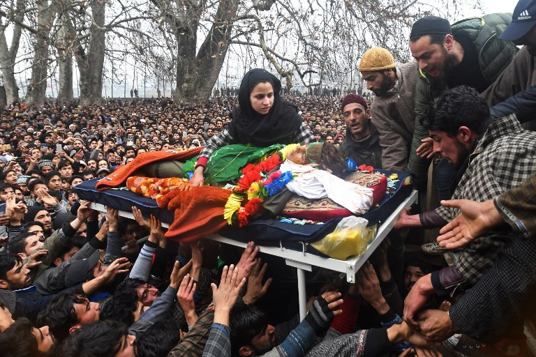 Thousands throng funeral for 'youngest' rebel killed in Kashmir