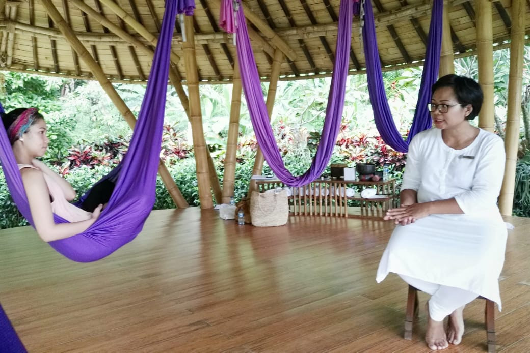 Life talk series with Ibu Fera, wellness mentor at Four Seasons Bali at Sayan.