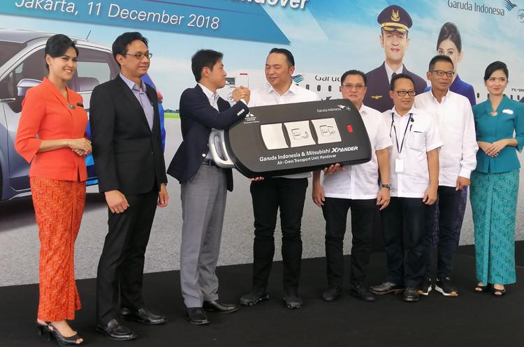 Garuda Indonesia adds Mitsubishi Xpanders to its crew transportation fleet