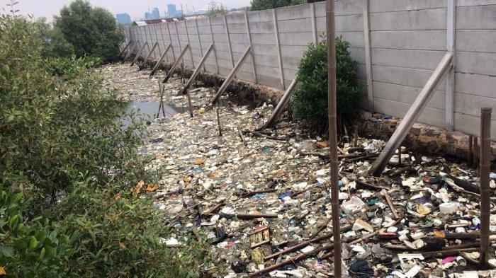 North Jakarta mangrove areas left littered with plastic, styrofoam