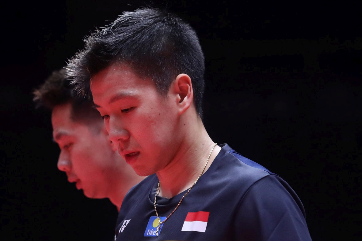 Marcus and Kevin end BWF Finals journey over sprained neck
