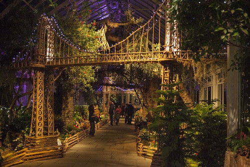 The Holiday Train Show at New York Botanical Garden, the Bronx.