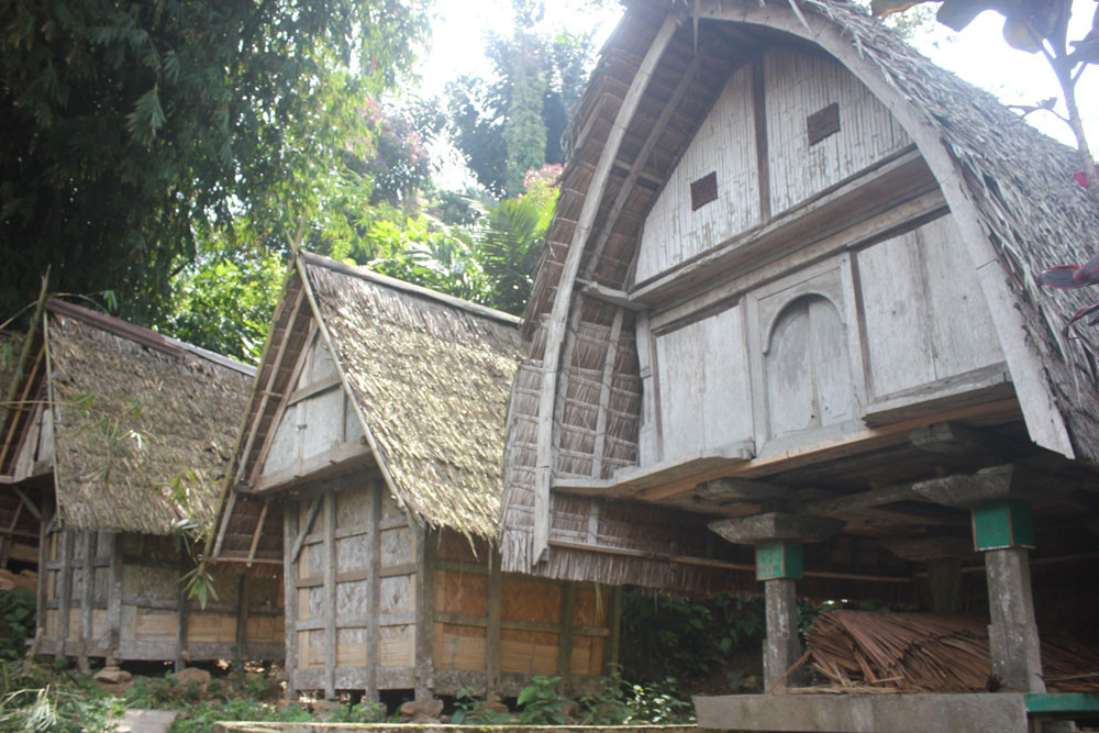 Leuit (rice barns) at Urug customary village in Pongkor Geopark.