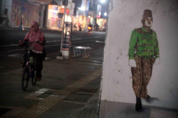 Surakarta's instant mural exhibition