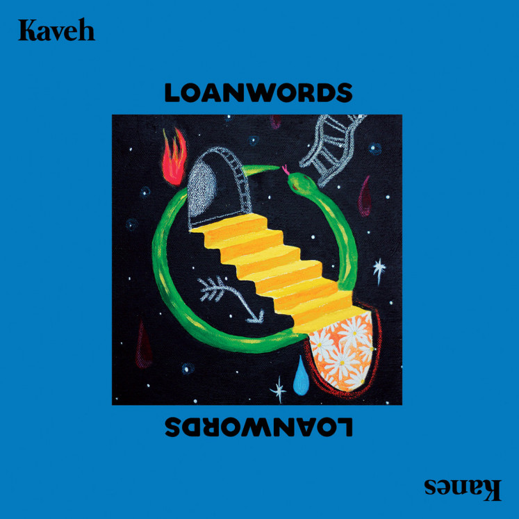 The cover art for Yogyakarta-based indie band Kaveh Kanes' second album 'Loanwords'