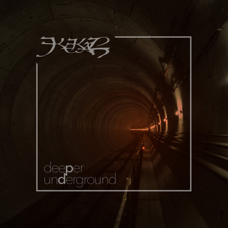 The cover art of 'Deeper Underground', the 2018 album of veteran extreme metal band Kekal.