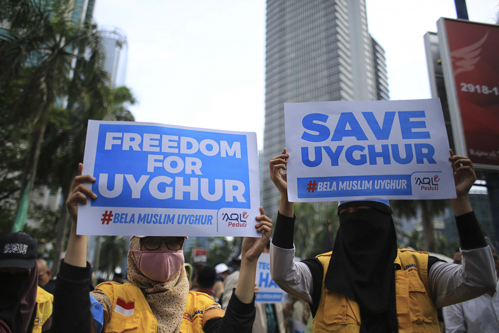 Indonesian Muslims stage rally in support of Uighurs