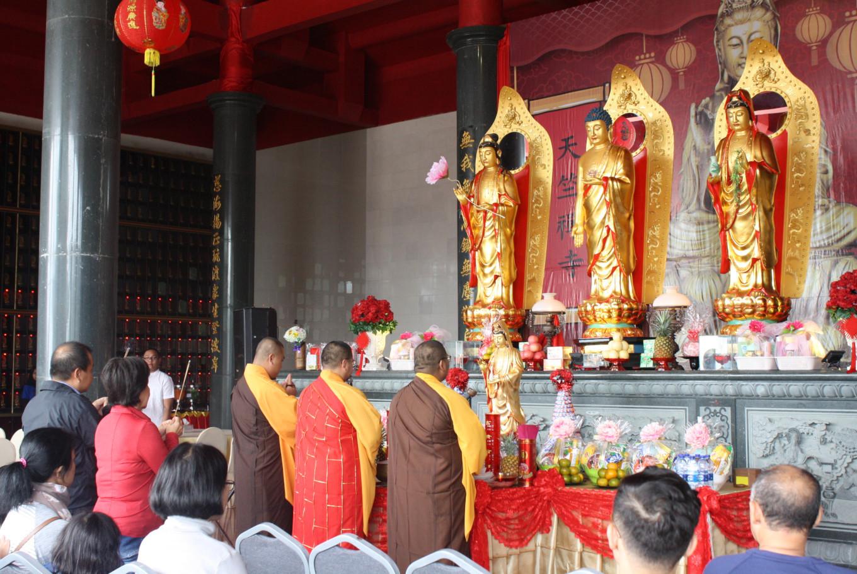 Interfaith leaders attend vihara opening at North Sumatra resort