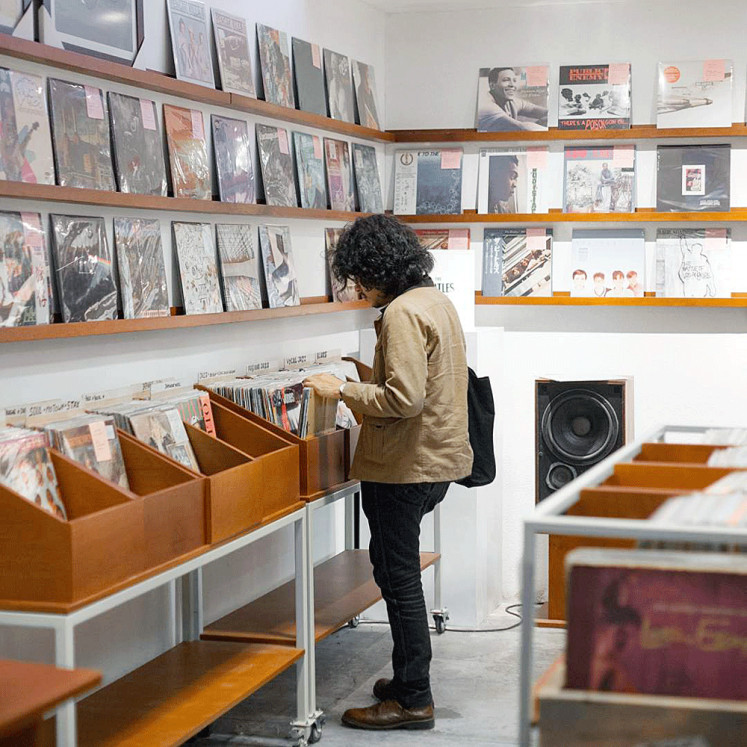 Tunes and books: Independent bookstore Aksara invites various culinary and art-related stores to fill the space at its newly-renovated Kemang outlet. One of them is La-La Records, which sells a curated selection of vinyl records.