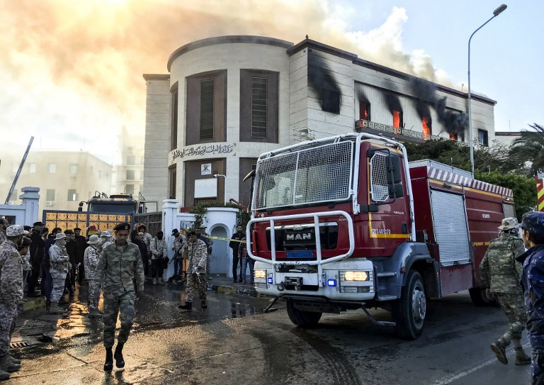 IS-claimed attack on Libya foreign ministry kills at least three