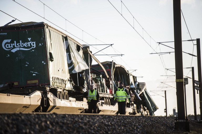 6 killed in train accident on bridge in Denmark