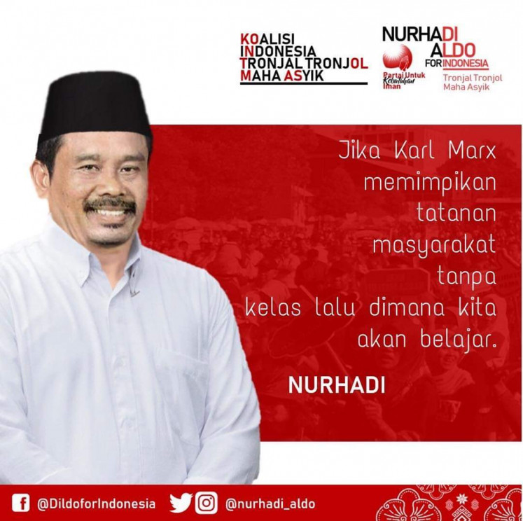 In another post, Nurhadi is seen with his quote, saying,