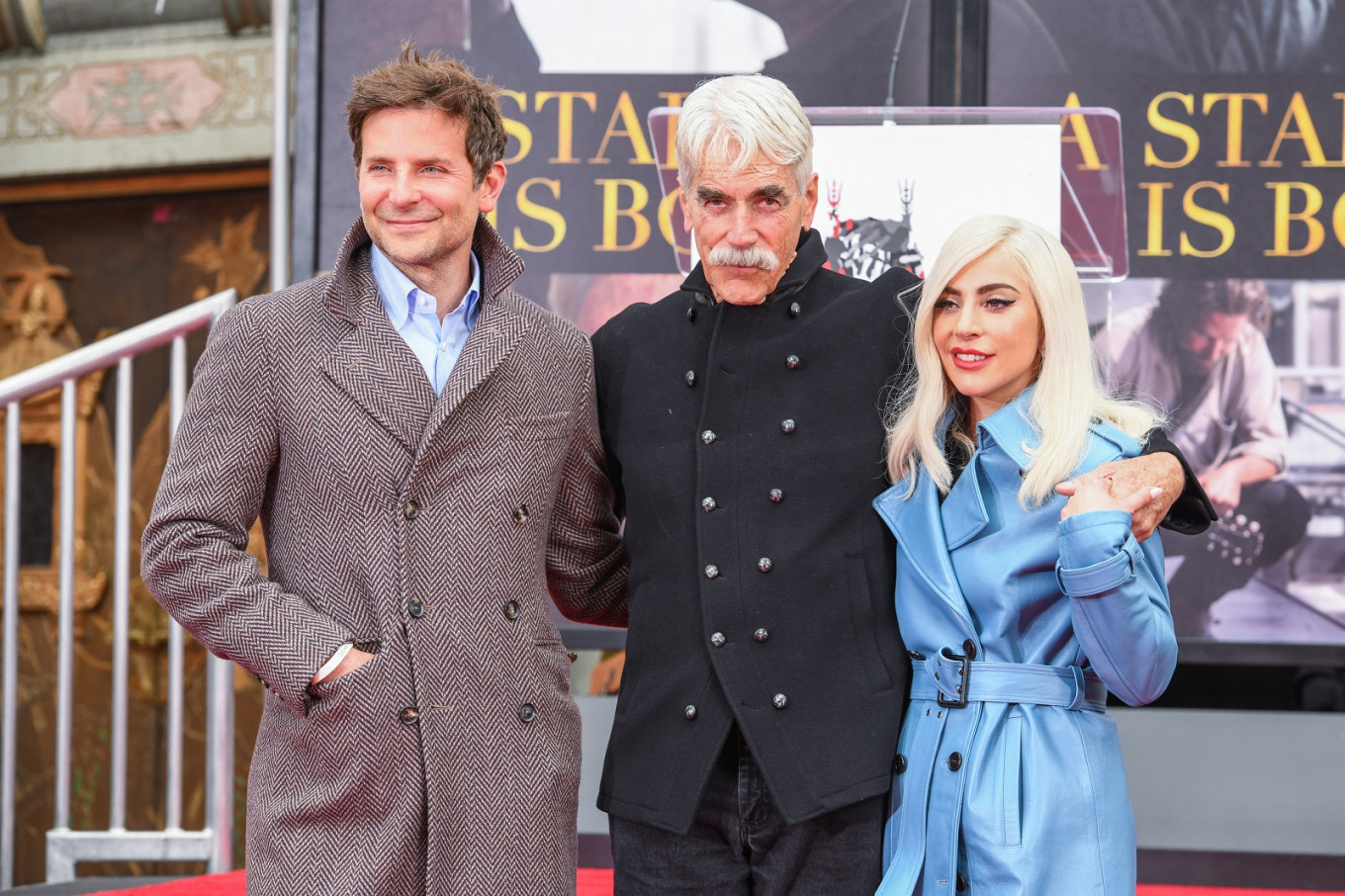 Sam Elliott honored at Hollywood ceremony as Lady Gaga lends support