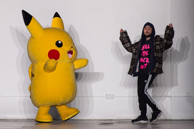 Pikachu and provocation at London's Fashion Week for men