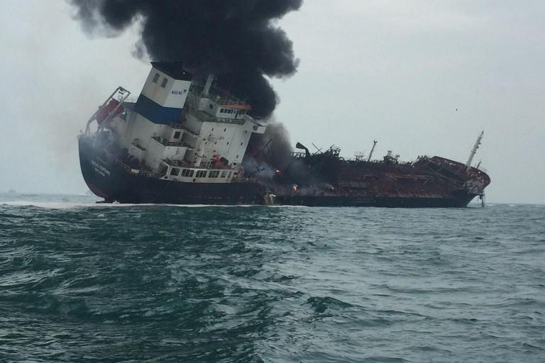One dead in oil tanker blaze off Hong Kong