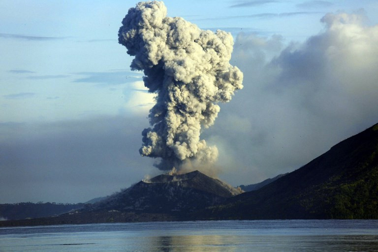 Volcano erupts on remote Papua New Guinea island