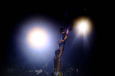 Breathtaking: Two acrobats keep the audience on the edge of their seat. JP/Dhoni Setiawan