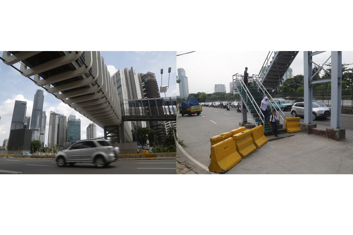 Paths to heaven or hell? Jakarta's old, new pedestrian bridges