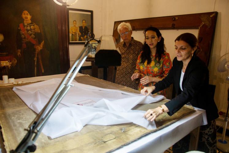Yogyakarta Palace restores Raden Saleh paintings