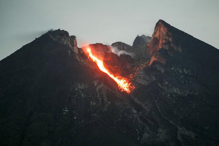 C. Java prepares for worst as Mt. Merapi eruptions increase