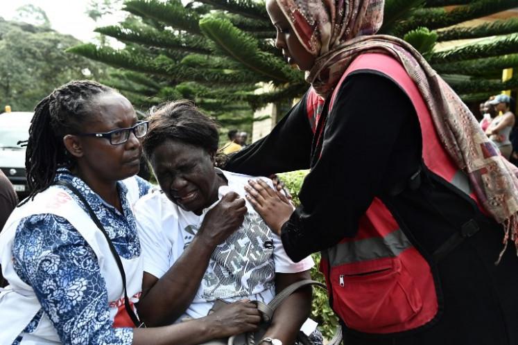 Kenyan president says Nairobi attack over as 'terrorists' killed