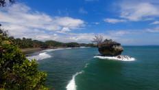 The beautiful scene at Madasari Beach in Cimerak district, Pangandaran regency, West Java. JP/Arya Dipa