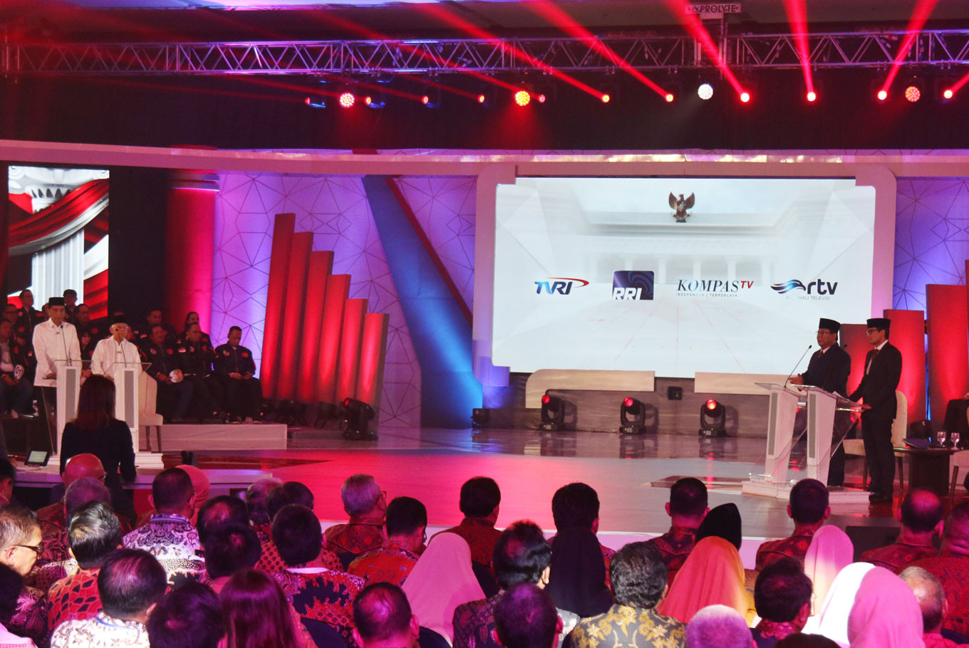 [UPDATED] One down, four more debates for Jokowi-Maruf vs Prabowo-Sandiaga