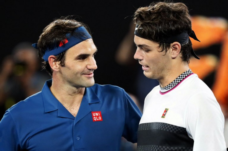 Fast Federer excited by Tsitsipas clash after Fritz blitz