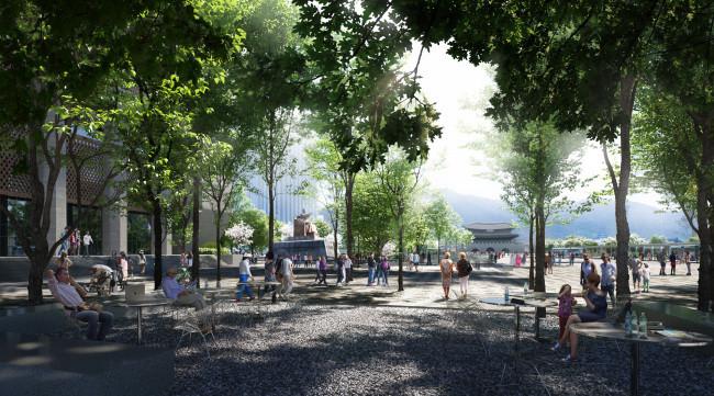 Seoul to expand Gwanghwamun Square, create underground path by 2021