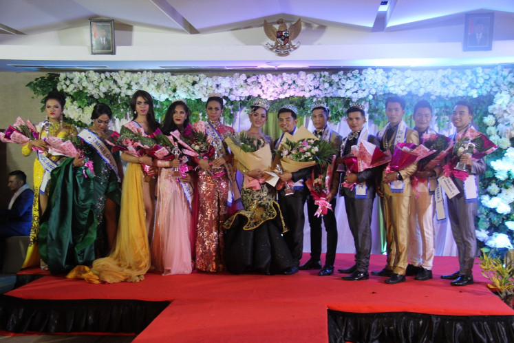 Delayed glory: The grand finals for the Mister and Miss Gaya Dewata contest, a Bali-based pageant for the LGBT community, was delayed for two months following adverse pressure from netizens and the local ulema council.
