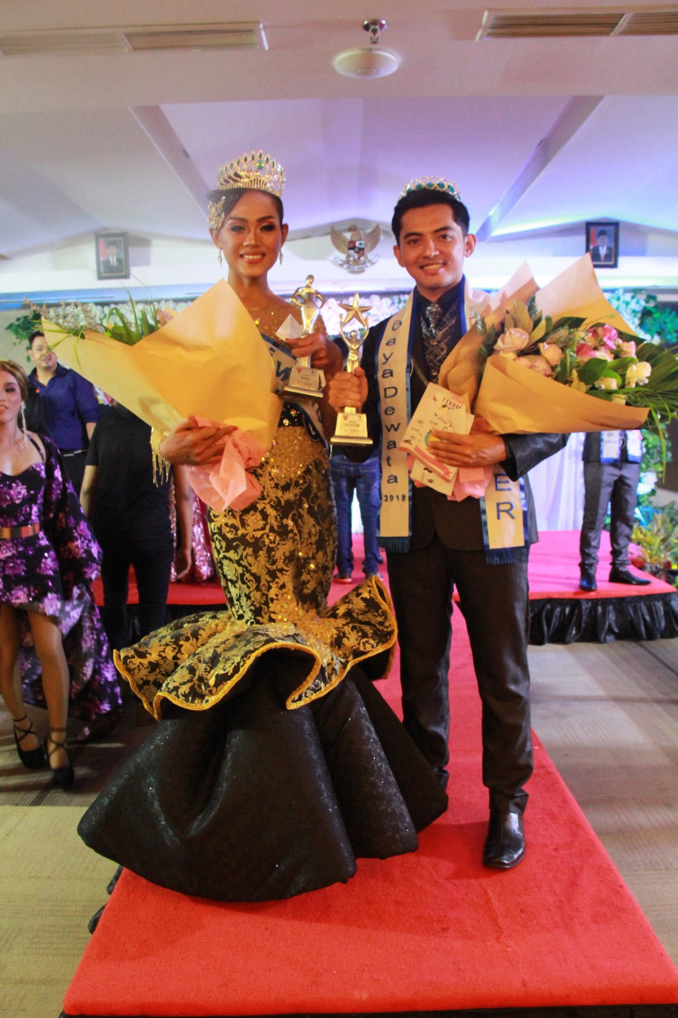 Pride and prejudice: Alena Perez, a transgender woman from Sidoarjo, East Java, and Harry Hexa, a gay man from West Java's Bandung, were crowned Miss and Mister Gaya Dewata in the grand finals on Dec. 17, 2018 in Bali.