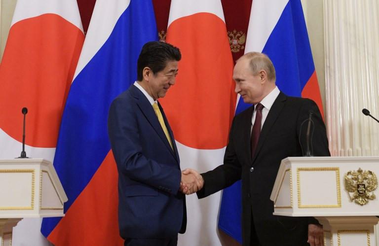 Abe, Putin agree to boost progress on peace treaty, increase trade