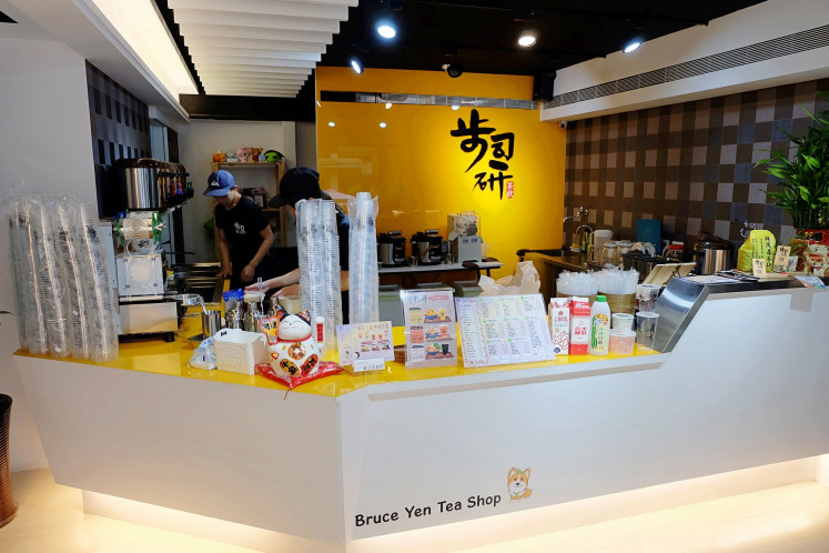 Sweet and creamy: Bruce Yen Tea Shop is famous for its creamy taro bubble tea drink.