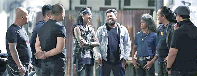 Underlings: Kang Bahar's gang of 'preman' (thugs) reunites.